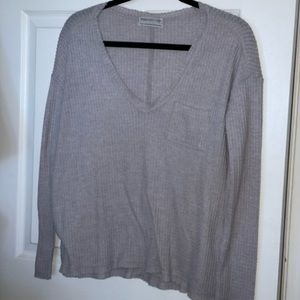 Urban outfitters vneck sweater- grey
